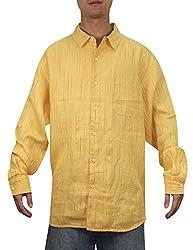 Tommy Bahama Mens Summer / Light Weight Island Shirt L Light Orange