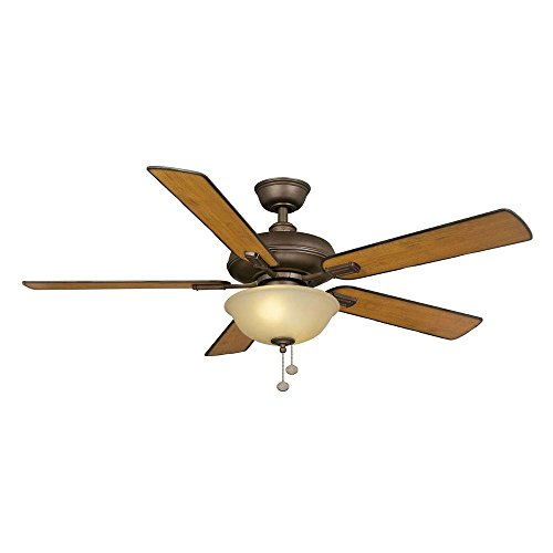 52 Inch Larson Oil-rubbed Bronze Finish Ceiling Fan Distressed Maple Finish