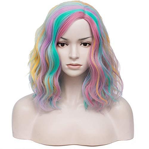 Neon Wig - TopWigy Rainbow Color Cosplay Wig Medium