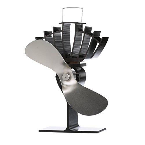 Ecofan 810CAKBX UltrAir Mid-Size Heat Powered Wood Stove Fan, Made in Canada, Nickel