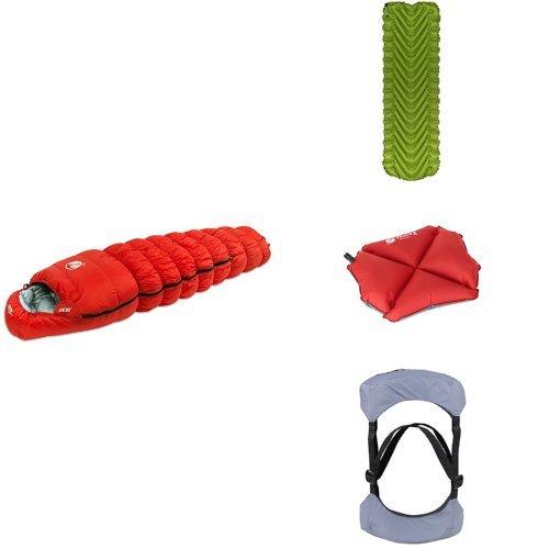 Backpacker's Essential Bundle with Sleeping Bag, Lightweight
