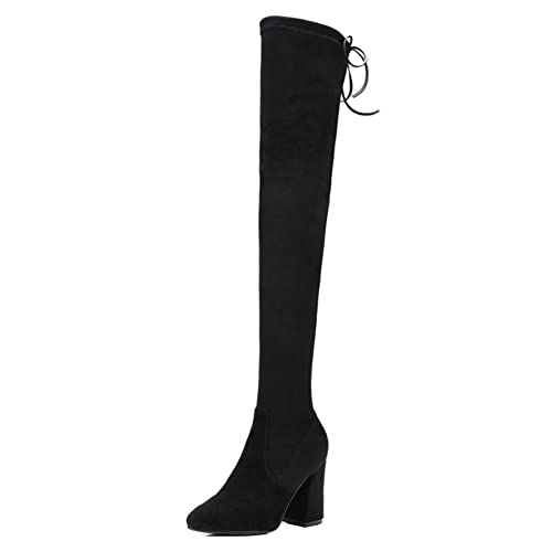 62c628c8dafc7 Amazon.com   Comfity Boots for Women, Pointy Toe Over The Knee Boots ...