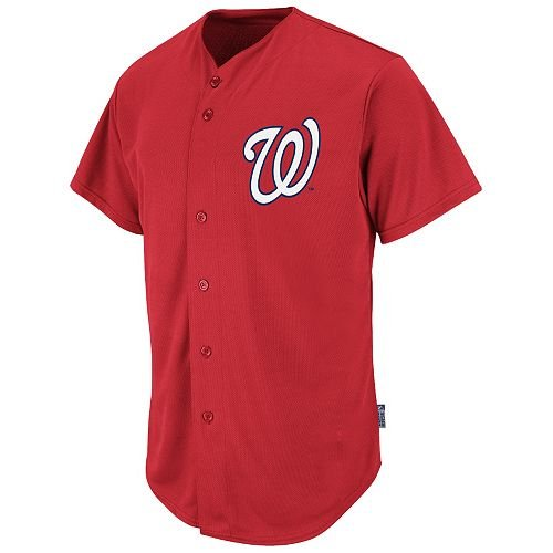 Washington Nationals Full-Button BLANK BACK Major League Baseball Cool-Base Replica MLB Jersey