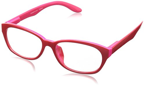 Peepers Good Morning, Charlie Oval Reading Glasses,Red,+1.25