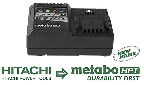 Hitachi UC18YSL3 18V Rapid Battery Charger W/ USB Port (Lithium-Ion Slide),
