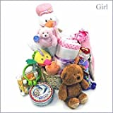 The Stork Welcomes DELUXE Baby Gift Basket - (Gender=Please Select)