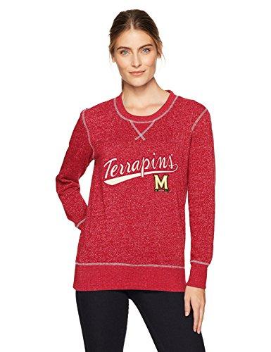 Maryland Football Terps - NCAA Maryland Terrapins Women's Ots Seneca Crew Neck Pullover, Small, Red