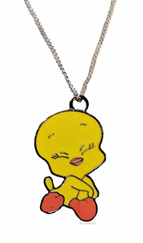 Tweety Bird Child Costumes (Looney Tunes Tweety Bird Metal Pendant Necklace Enamel Finish)