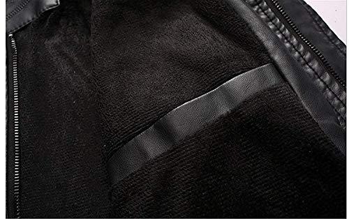 De El De De Invierno Hombres Chaqueta Chaqueta Chaqueta Los Terciopelo Motorista De Chaqueta Cuero Warm Vendimia Chaqueta Cuero Imitación De De De RM La Más Art Cuero Simple Estilo Blanco Cremallera De qxxXzO