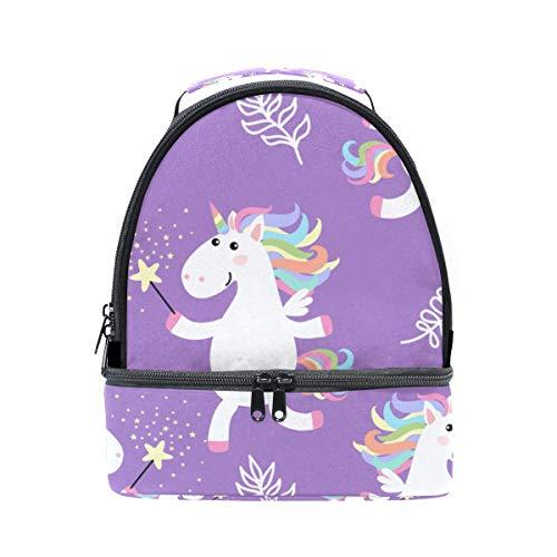 almuerzo correa ajustable doble picnic blanco Bolso para de unicornio el para diseño color hombro de p5xqP1xT