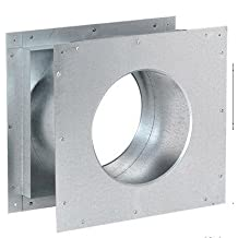 Dura-Vent 46DVA-WTS DirectVent Pro 4'' Inside Diameter x 6-5/8'' Outside Diameter Galvanized Reduced Wall Thimble