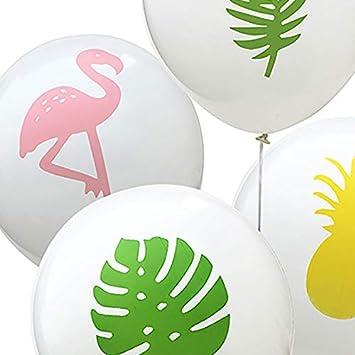 Dorado Fiestas Bodas 40 cm Ideal para Suministros de Fiesta l/átex Fansi 1 Juego de Globos de l/átex para decoraci/ón de cumplea/ños creativos y Transparentes con dise/ño de Flamenco