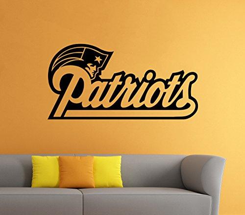 "Vinyl Decal New England Patriots NFL Emblem Sticker Wall Logo Sport Home Interior Removable Decor (22""high X 40""wide)"