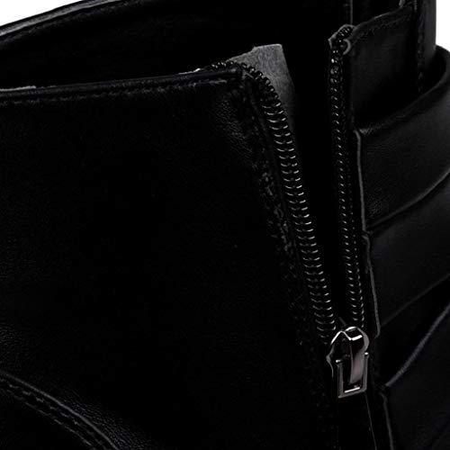 Occidentali Antiscivolo Chelsea Caviglia Scarpe Pelle Stivali Nero Abcone Invernali Eleganti Vendita Sneakers Pelliccia Stivaletti Uomo Liquidazione n8nPxUvz