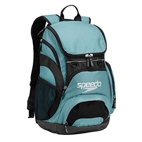 - Speedo Printed Teamster 35L Backpack, Light Blue/Black, 1SZ