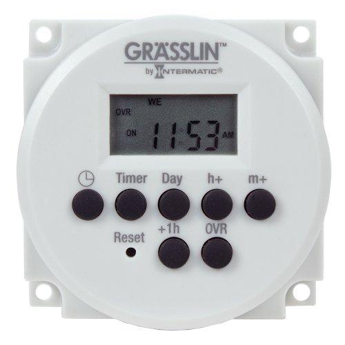 Grasslin by Intermatic FM1D14-24U Digital Timer, One-Circuit Panel Mount, 24VAC/VDC, 50/60Hz -