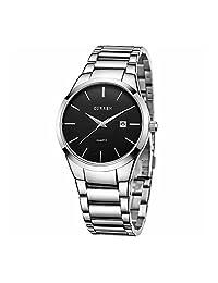 CURREN Reloj Para Hombres Diseño Ejecutivo Exclusivo Fechador Automático (Silver)