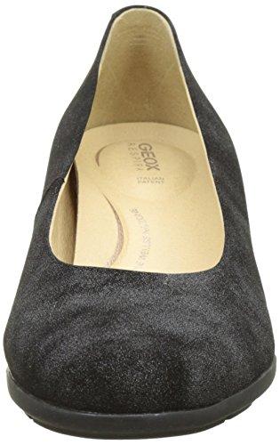 Geox D Annya Mid B, Zapatos de Tacón para Mujer Gris (Anthracite)