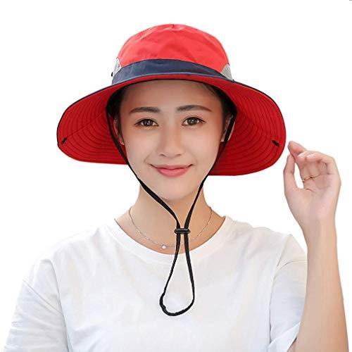 c90b5450898be Muryobao Women's Outdoor UV Protection Foldable Mesh Wide Brim Beach  Fishing Hat
