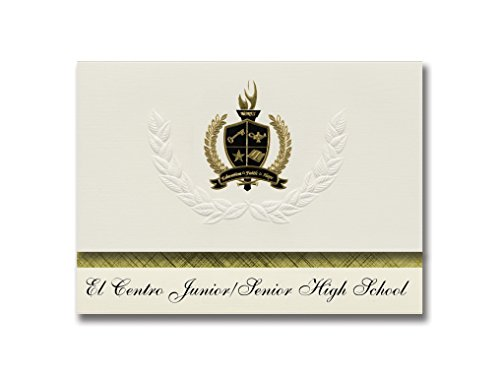 Signature Announcements El Centro Junior/Senior High School (Sacramento, CA) Graduation Announcements, Presidential Basic Pack 25 with Gold & Black Metallic Foil - Sacramento Centros