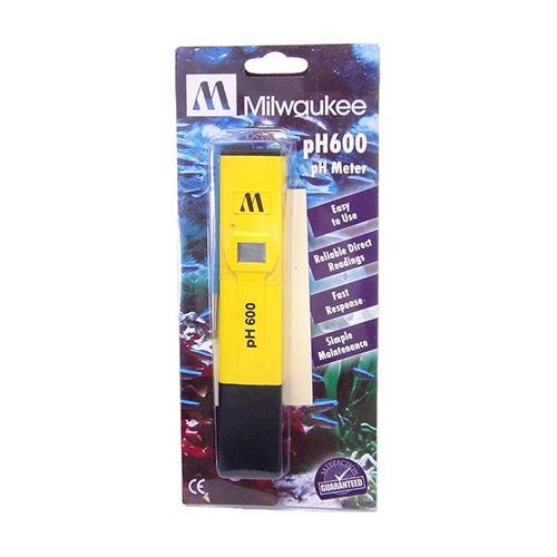 Milwaukee Instruments pH600-AQ Ph Economical Pocket Tester, Blister Packaging, 0 Degree C to 50 Degree C Temperature Range, 0.1 pH Resolution, 24 mm Height, 30 mm Wide, 150 mm Length (Pack of 10)