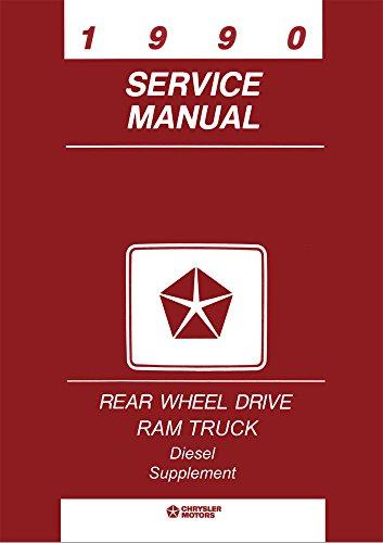 bishko automotive literature 1990 Dodge Ram Truck Cummins 5.9L Diesel Engine Shop Service Repair Manual Book
