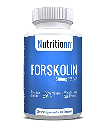 Forskolin by Nutritionn - Premium Weight Loss Supplement - 60 Capsules