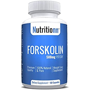 Forskolin 500 mg by Nutritionn - Premium Weight Loss Supplement - 100% Natural & Pure Forskolin - Maximum Strength