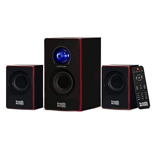 Acoustic Audio by Goldwood 2.1 Bluetooth Speaker System 2.1-Channel Home Theater Speaker System, Black (AA2103) ()