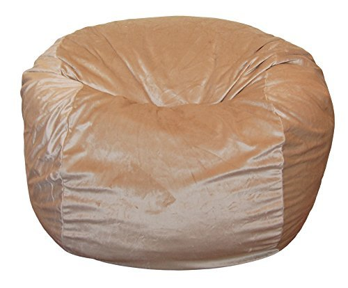 Ahh! Products Cuddle Minky Tan Washable Large Bean Bag Chair by Ahh! - Volleyball Chair Bag Bean