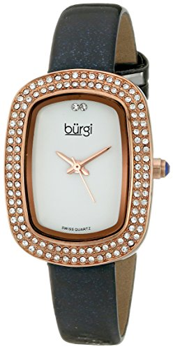 Burgi Women's BUR111GY Analog Display Swiss Quartz Grey Watch