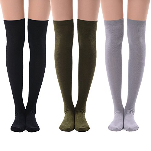 MEIKAN Thigh High Tights Socks, ...