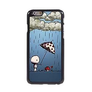 Zaki Warm Mushroom Umbrella Pattern Aluminum Hard Case for iPhone 6