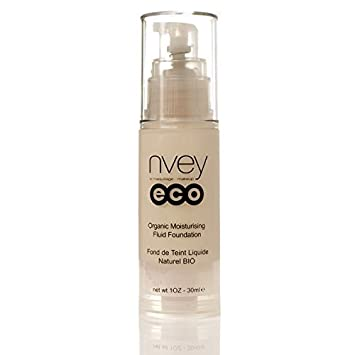 Liquid Foundation Makeup Nvey Eco Moisture Rich Fluid Foundation 512 Medium. Organic Cosmetic and Best Mineral Foundation for Flawless Coverage