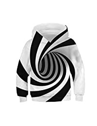 IYOWEL- 3D Printing Hoodies Boys Girls Sweatshirts Long Sleeve Sweater