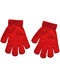 Infant Baby Cute Solid Print Winter Warm Gloves Red