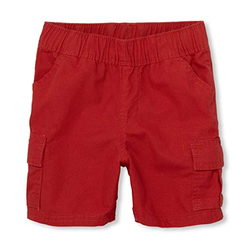 The Children's Place Baby Boys' Toddler Pull On Cargo Shorts, Ruby 60634, 4T]()