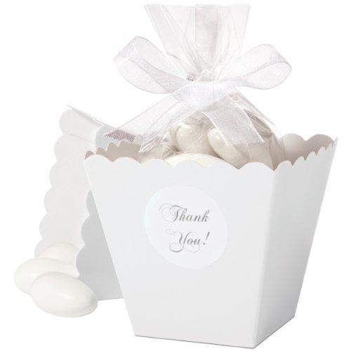 (Wilton 1006-4039 Favor Box Set, White 50 Count)