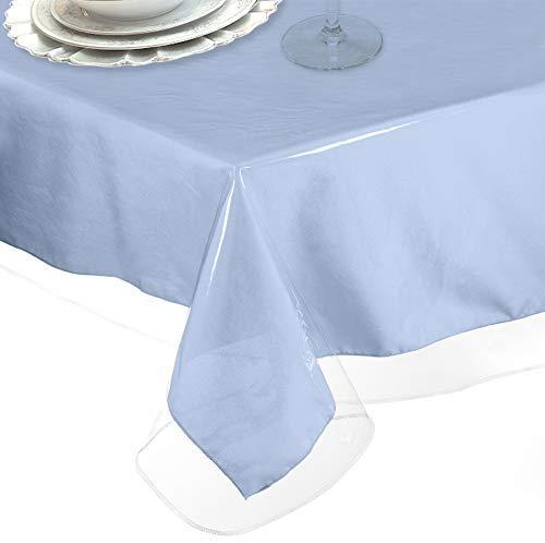 LAMINET Heavy-Duty Deluxe Crystal Clear Vinyl Tablecloth Protector 70 x 108 - Oblong