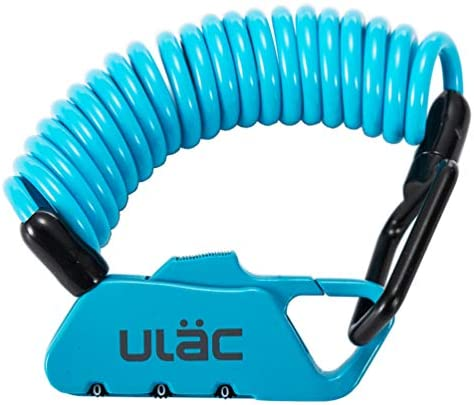 [スポンサー プロダクト]ULAC(ユーラック)自転車 ロック 鍵 ワイヤーロック ロードバイク ベビーカー バイク サドルロック 軽量 携帯便利 盗難防止 四つ色