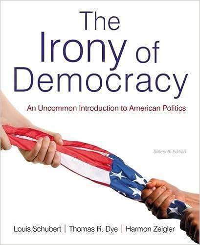The irony of democracy an uncommon introduction to american the irony of democracy an uncommon introduction to american politics louis schubert thomas r dye harmon zeigler 9781133607250 amazon books fandeluxe Gallery