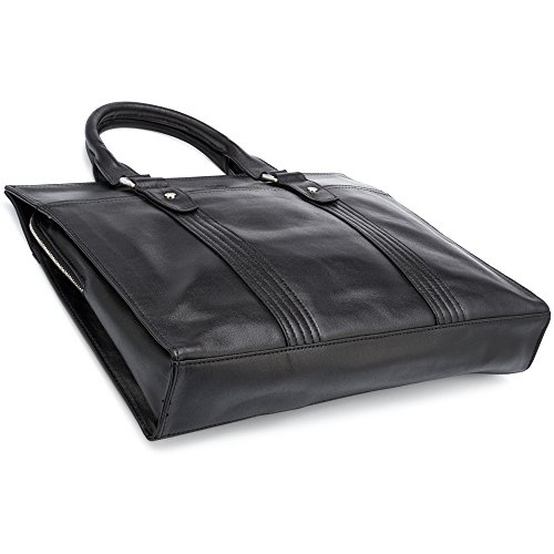 Leather Briefcase by Jason Gerald Leather Laptop Bag - Premium Messenger Bag for Men and Women by Jason Gerald (Image #2)