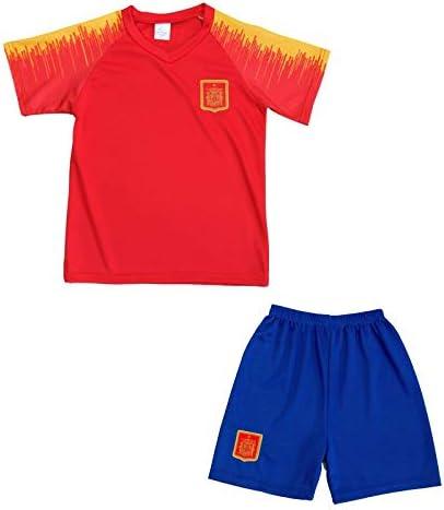 Genérico - Conjunto de camiseta y pantalones cortos españoles para niños, rojo, 8 años: Amazon.es: Deportes y aire libre