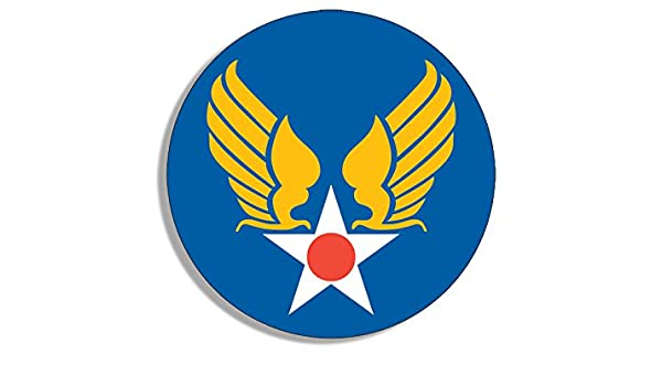 Amazon com: American Vinyl Round Army Air Corps Star and Wings
