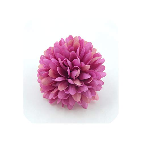 20PCS 7cm Chrysanthemum Artificial Silk Flower Head for Home Wedding Party Decoration,Wine red