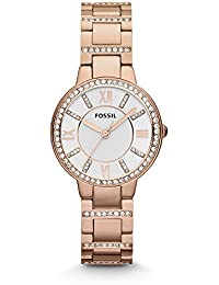 Women's ES3284 Virginia Crystal-Accented Rose Gold-Tone Stainless Steel Watch