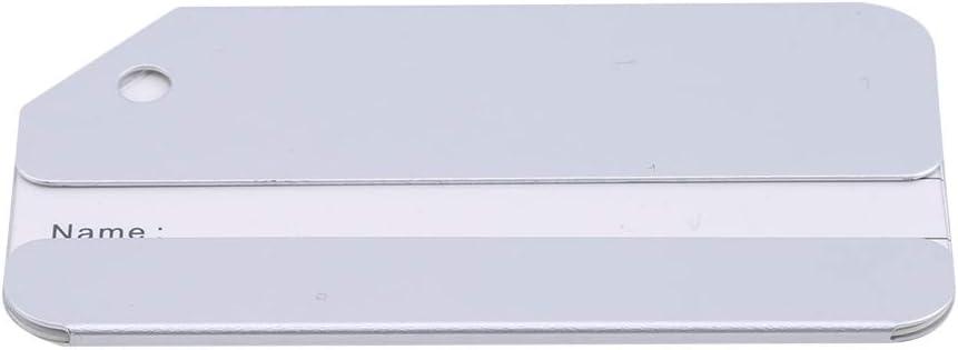 MOONQING /Étiquettes /à Bagages en m/étal Porte-Cartes didentit/é avec identifiant pour Bagage de Voyage