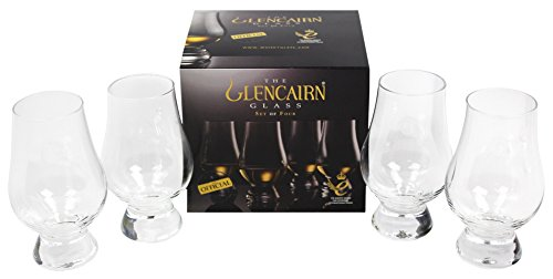 Glencairn Whisky Glass, Set of 4 in One Gift Box ()