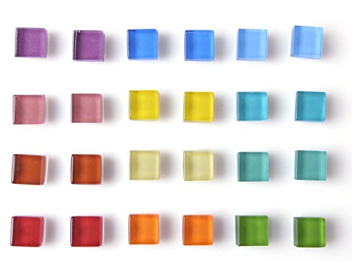 Office Magnets Kitchen Magnets Refrigerator Magnets Fridge Magnets for Whiteboard Magnets for Dry Erase Board Multicolor Square Glass Colorful Cute Fun Decoration (Glass)