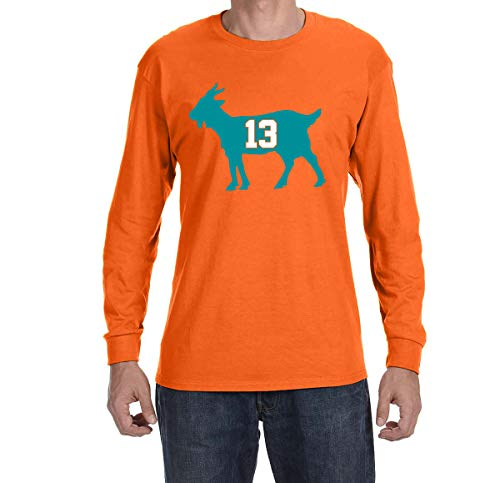(Tobin Clothing Orange Miami Marino Goat Long Sleeve Shirt Adult XL)
